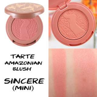 Tarte Deluxe Amazonian 12h Clay Blush Travel Size Sincere