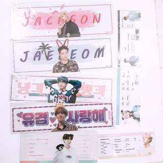 GOT7 Transparent slogan flight ticket banner