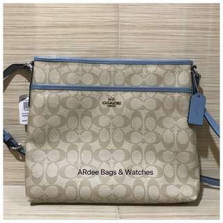 💯 Authentic Coach Signature File Bag