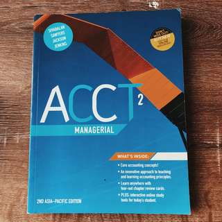 ACCT MANAGERIAL 2ND EDITION