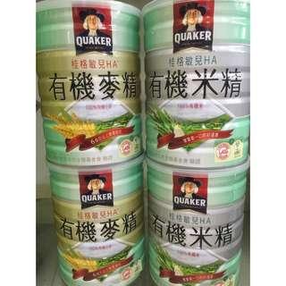 🚚 桂格有機米精 、有精麥精
