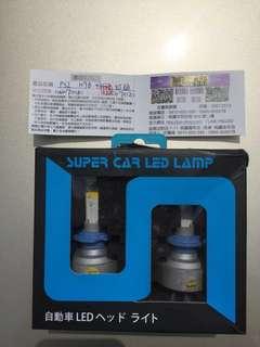 LED大燈 H7 正常色光  2顆燈泡才賣580