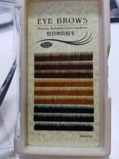 Individual eyelash / eyebrows extension