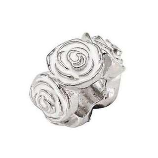 Pandora White Rose Charm