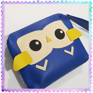 Owl Blue Power Bank Bag Pouch Wallet Purse (USED)