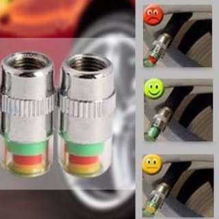 Tire pressure valve cap