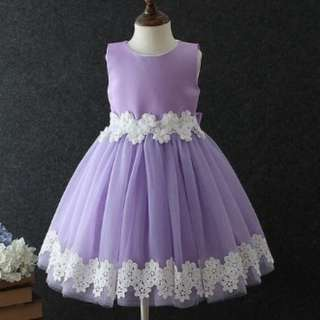 Amazing flower purple dress