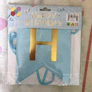 INSTOCK BRANDNEW Happy Birthday Banner