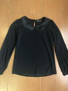 Petercolar black shirt