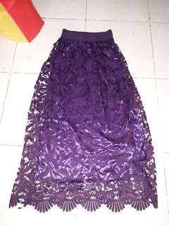 Floral purple long skirt