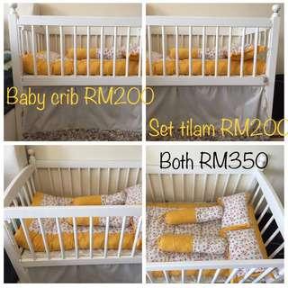 Baby crib & kekabu bedding set