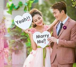 🚚 全新 marry me 拍攝紙板