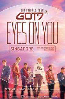 Got7 Eyes On You Concert In Singapore A4 Tickets
