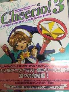 百變小櫻 Cheerio ! 3 畫冊 絕版 原畫集 保存良好