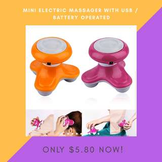 Handheld Mini USB Battery Full Body, Arm, Leg Electric Wave Vibrating Massager