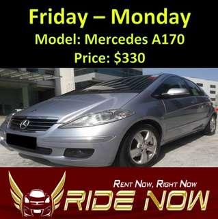 Mercedes A170 Weekend Rental