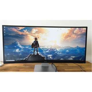 "34"" Curved Ultrawide Dell Monitor (95% new)"