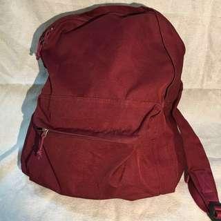 🚚 降!!百分百正品 無印良品 muji 紅色 帆布背包