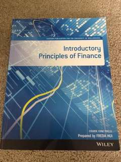Introductory Principles of Finance for University of Wollongong
