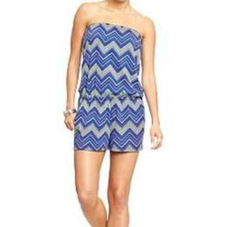 Old Navy Jersey Tube Romper (Printed M-L)