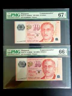 MAS $10 Commemorative notes