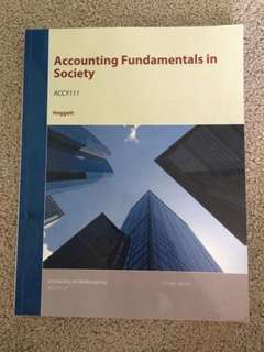 Accounting Fundamentals in Society The University of Wollongong