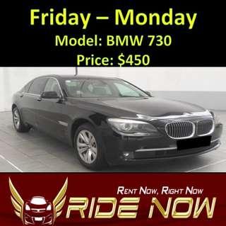 BMW 730 Weekend Rental