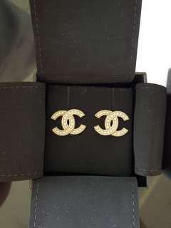 Chanel Pearl Embellishments Earrings
