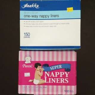 Nappy liners (+-225 pieces)