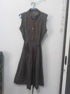 Dress Coklat cantik selutut
