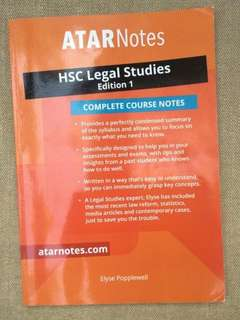 ATAR Notes HSC Legal Studies Complete Course Notes- Year 12