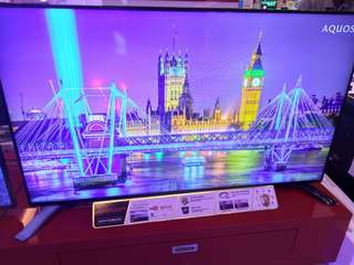 Sharp smart led  tv 60 inches Model: LC-60LE380X