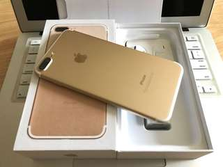 iPhone 7 Plus 128gb Gold Like New Openline Complete