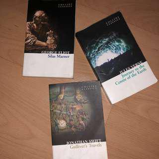 Classic Novels from Collin Classics (Silas Marner, Gulliver's Travels, Journey to the Center of the Earth)