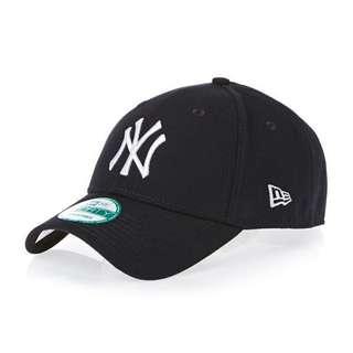 New Era 9Forty NY cap 老帽 棒球帽 黑底白字