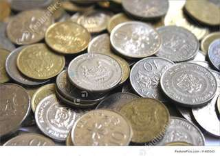 Sorted Singapore Coins