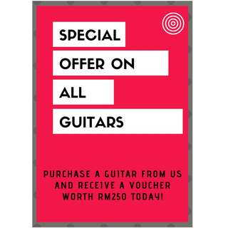 Special Offer on Guitars