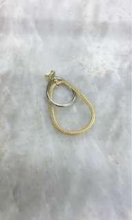14K Standard yellow gold & white gold pendant