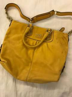 Coach Mustard Leather Bag