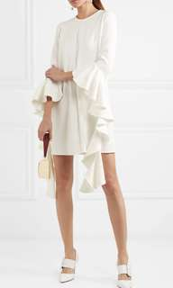 Ellery Kilkenny ruffles sleeves dress balenciaga Gucci Stella McCartney bag shoes heels Hermes Chanel handbag skirt