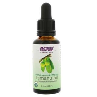 🚚 Now Foods Certified Organic 100% Pure Tamanu Oil 1 fl oz (30 ml)