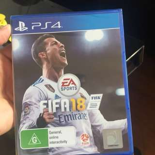 2018 PS4 video game (FIFA 18 is SOLD)
