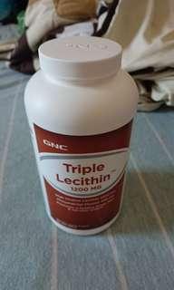 GNC tirple卵磷脂 防乳塞 1200mg 180粒