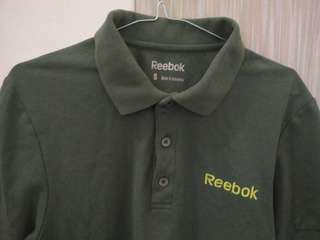Kaos Polo Reebok navy green