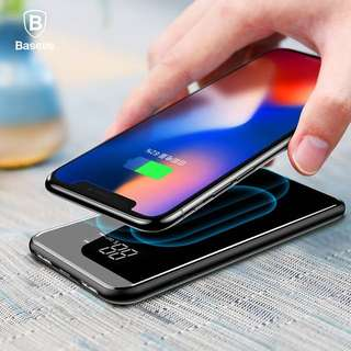 🚚 Baseus Dual USB LED Wireless Charging Power Bank + Stand