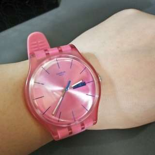 Swatch pink watch (FREE shipping)