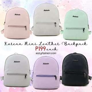 Korean mini leather bag pack