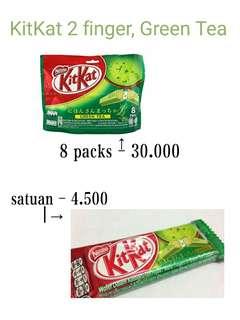kitkat 2 finger green tea