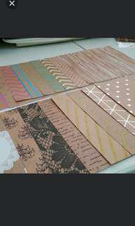18pc Mix Pattern Square Stock Card Paper