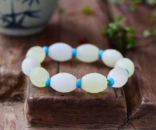 Xinjiang nature and tianyu white jade bracelet